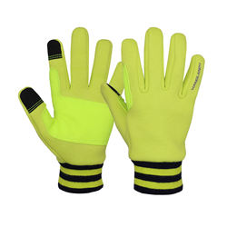 HANDLANDY Hi-vis 4-way Stretch Fabric Winter Running Gloves Sport Hand Gloves Winter Gloves Touch Screen