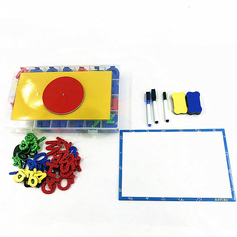 High Quality Double-Side Magnet Board Kit Foam Alphabet Magnetic Letters