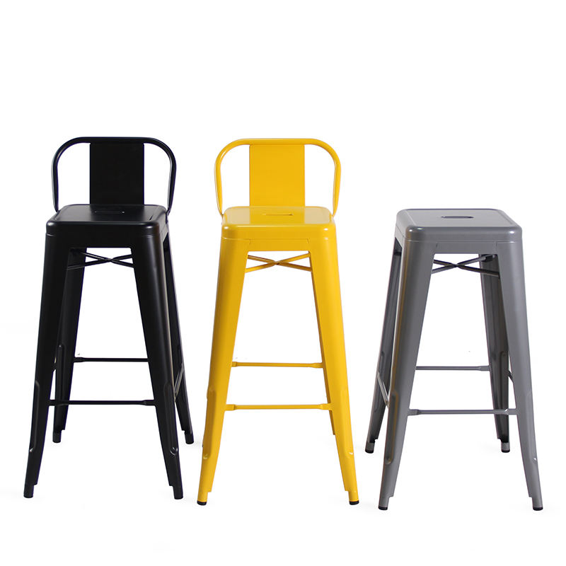 Industrial Dining Chair Tolis Bar Stool Wholesale Metal Dining Chair With Timber Seat
