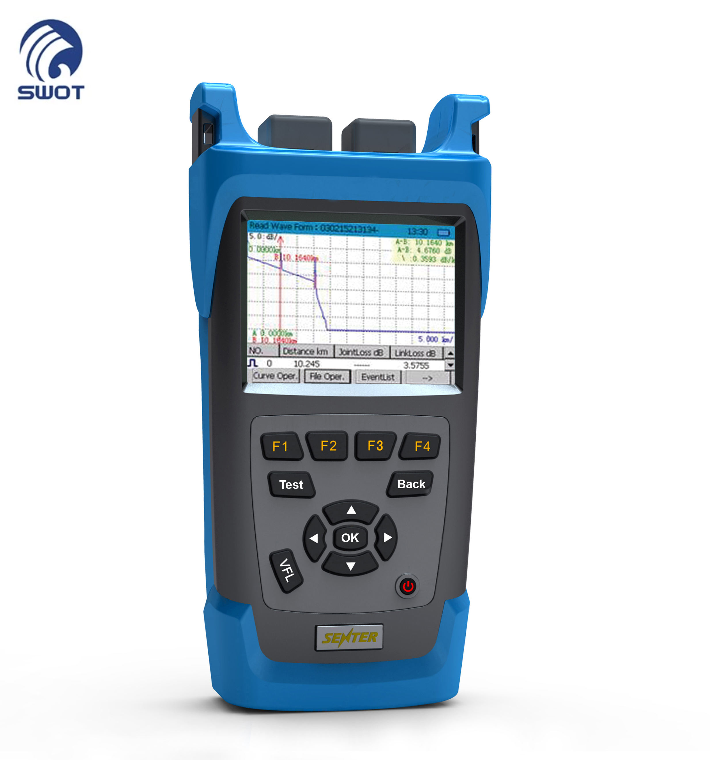 Supply Portable Fiber Optic OTDR 26/28/30/32db Fiber Optic OTDR Tester OT3200