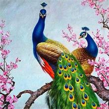 DIY Art Wholesale 5D Crystal Diamond Painting Peacock Cross Full Drill Craft Kit Home Wall Hanging Decor