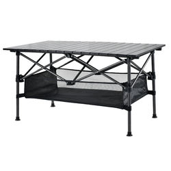 Picnic Folding Table Outdoor Portable Ultra Light Beach Aluminum Table Camping Barbecue Stand Home simple squareTable