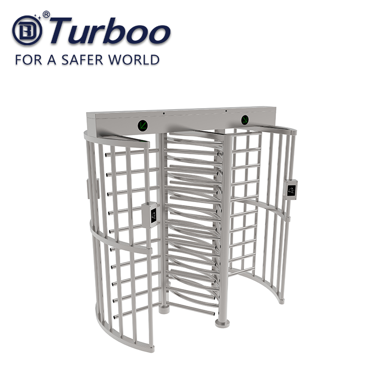 Double channel mechanism full height turnstile gate access solution
