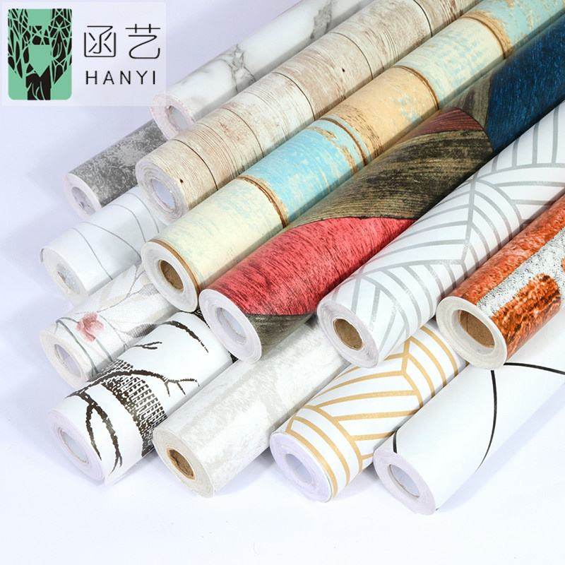 Wholesale custom self adhesive contact paper rolls pvc vinyl decorative film