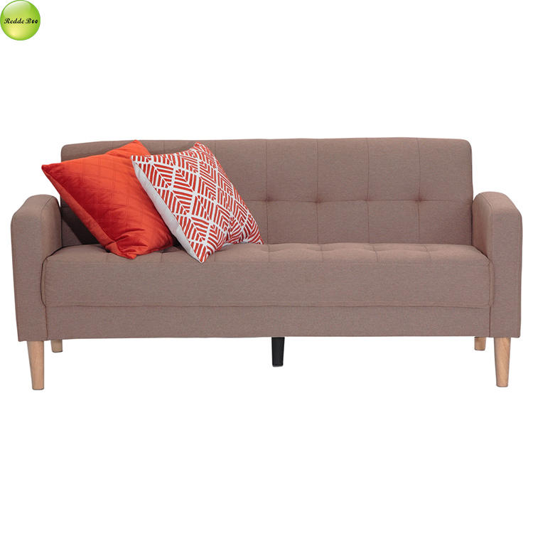 New wooden sofa set designs modern fabric sofa with removable backrest