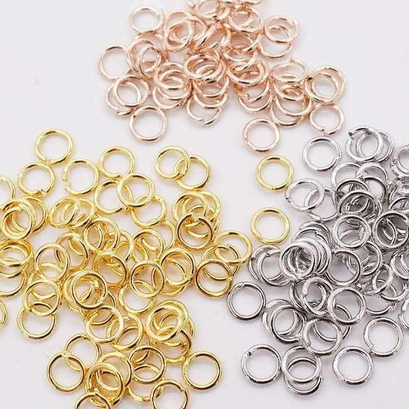3-14 mm Brass/Stainless Steel Jump Rings Split Rings Connectors For Diy Jewelry Finding Making Accessories Wholesale Supplies