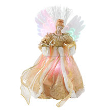 50cm Christmas Angel with Optical LED light color changing  Ornament Tree Top Figurines Collection Doll Xmas holiday Decoration