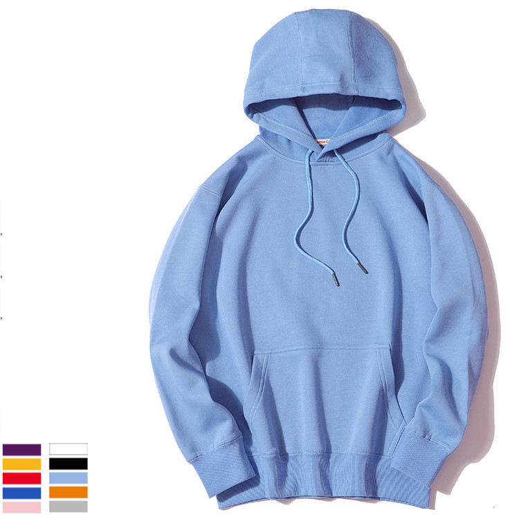 Custom Logo 330Gsm High Quality Blank Solid Color Hoodie For Men