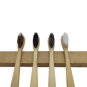 Eco friendly custom logo ultra soft bristle wooden natural bamboo charcoal toothbrush