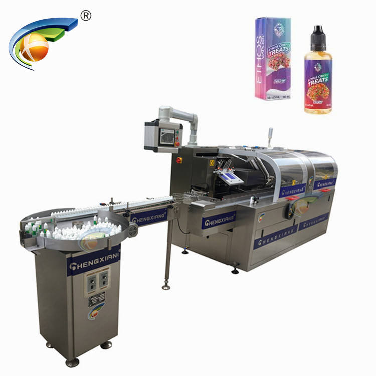 CHENGXIANG 2019 new design automatic cartoning machine for plastic and glass bottle
