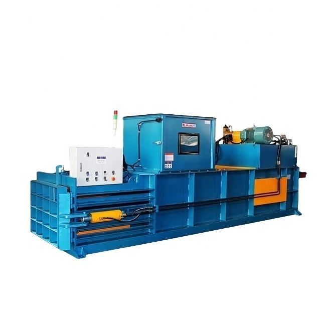 semi automatic horizontal hydraulic press baler for scrap sponge
