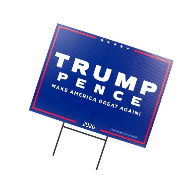 Custom Corrugated Corflute Plastic Sheets 24x18 Coroplast trump Yard Signs