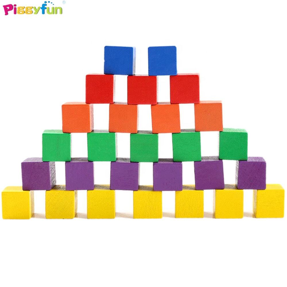 2020 Funny toys Children 25mm Wooden Cube Educational Blocks Set Toy Building Block for Kids