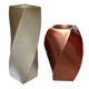 Home Decorative Fiberglass Outdoor Flower Vase For Gold Foil And Brown