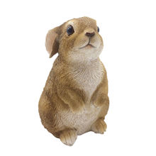 China wholesale garden ornament outdoor decor animal figurine buunny cute rabbit resin