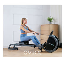 OVICX R100 fold up seat roller home use rowing machine with replacement spare parts