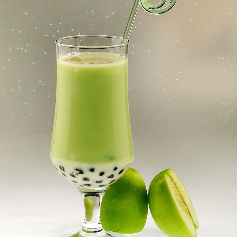 Green Apple juice concentrated juice drink thick pulp beverage shop raw materials milk tea special