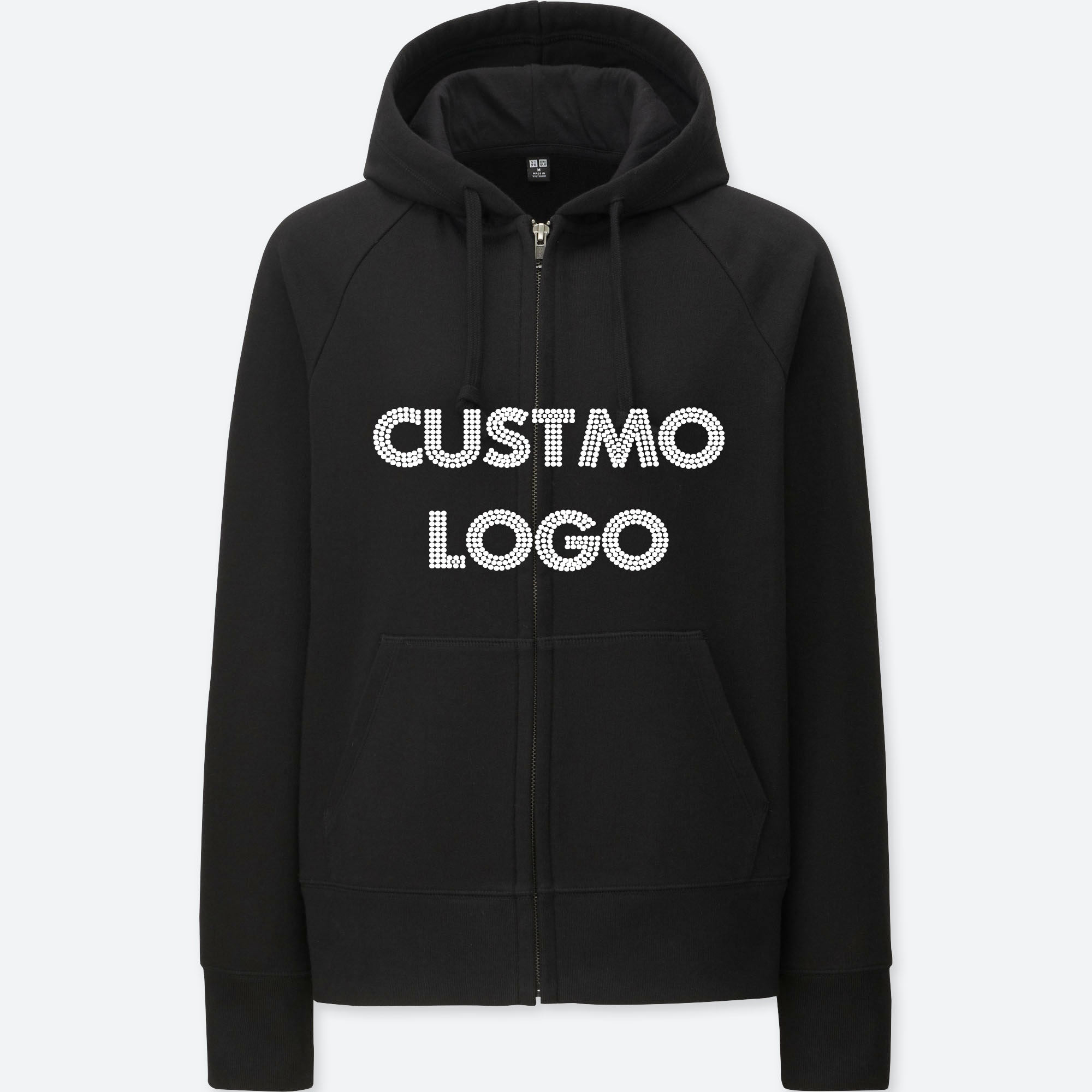 MOQ 1 pcs oversized hoodie black hoodie printing logo Custom letter unisex 100% cotton hoodies with rhinestones sweatshirts