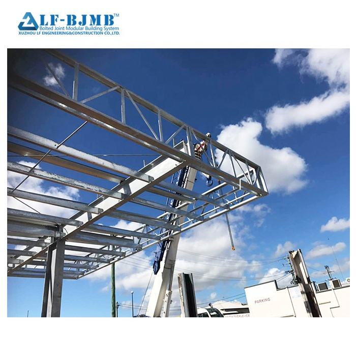 Stainless steel space frame canopy with glass roof for easy install
