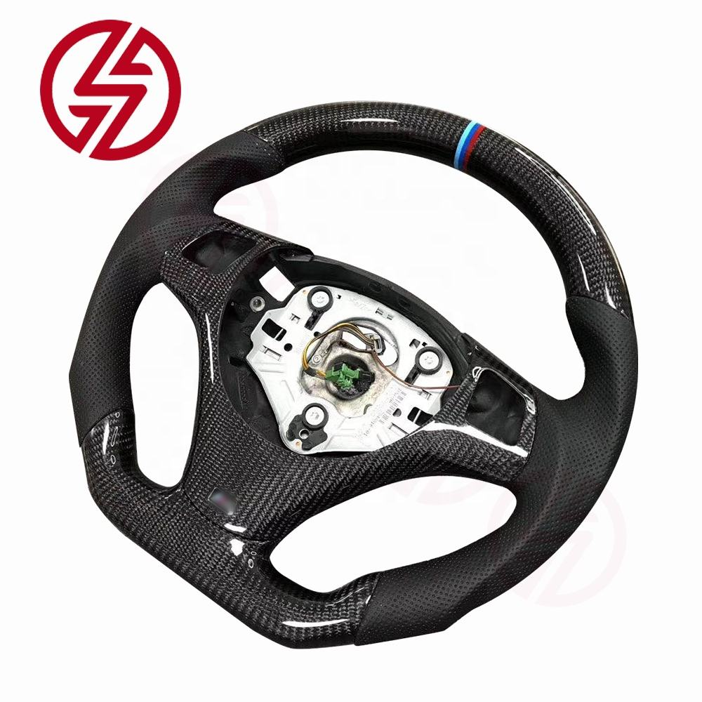 High quality custom led leather carbon fiber racing steering wheel for BMW M3 E92 2006 2007 2008 2009 2010