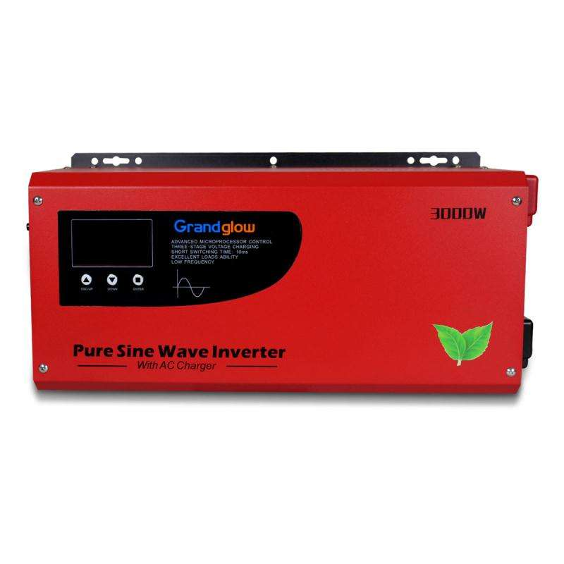 Frekuensi Rendah 3000W <span class=keywords><strong>Murni</strong></span> <span class=keywords><strong>Gelombang</strong></span> <span class=keywords><strong>Sinus</strong></span> SINGLE PHASE 24V 48VDC 110V 120V 220V 230V 240VAC OFF GRID <span class=keywords><strong>INVERTER</strong></span> Surya