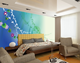 Spring scenery wall cloth wall paper material mural background wall home decoration