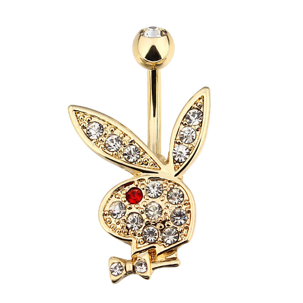 New Style Cute Rabbit Navel Belly Button Rings 316L Steel Piercing Belly Button Rings