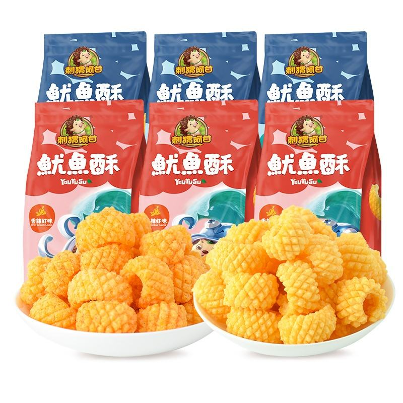 Leisure Food Import Snacks Seafood Snacks Squid Crisp Original/spicy Shrimp 160g French Fries Prepackaged Food With ISO