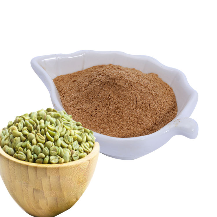 Hot Selling Green Coffee Bean Extract Chlorogenic Acid 50% For Slim, Factory supply high quality Organic Coffee Bean Powder