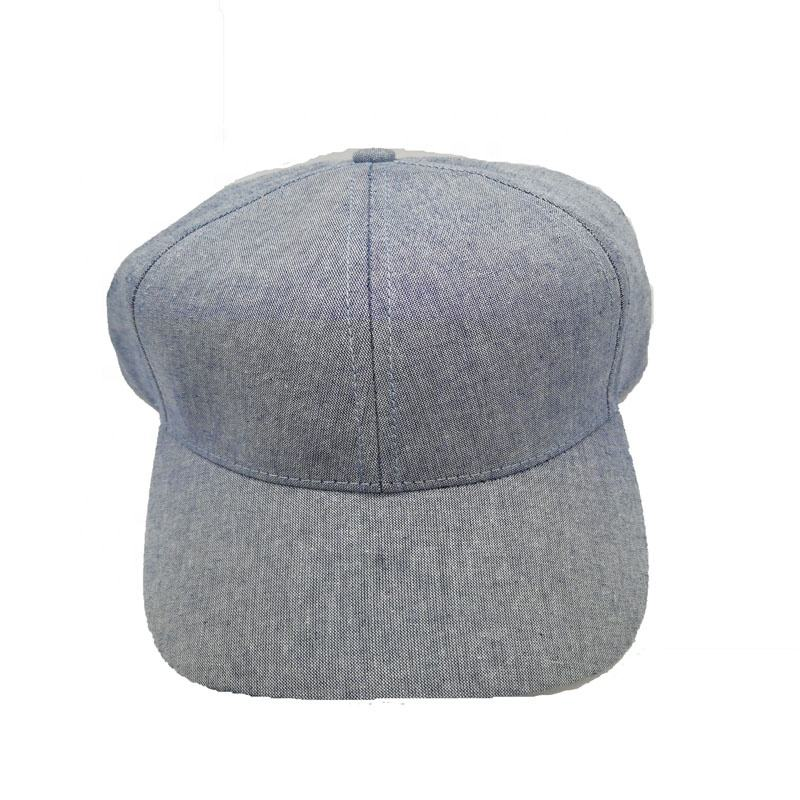 Custom 100% katoen oxford 6 panel gestructureerde baseball cap