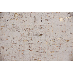 Wholesale natural texture interior wall paper white cork wallpaper with gold background