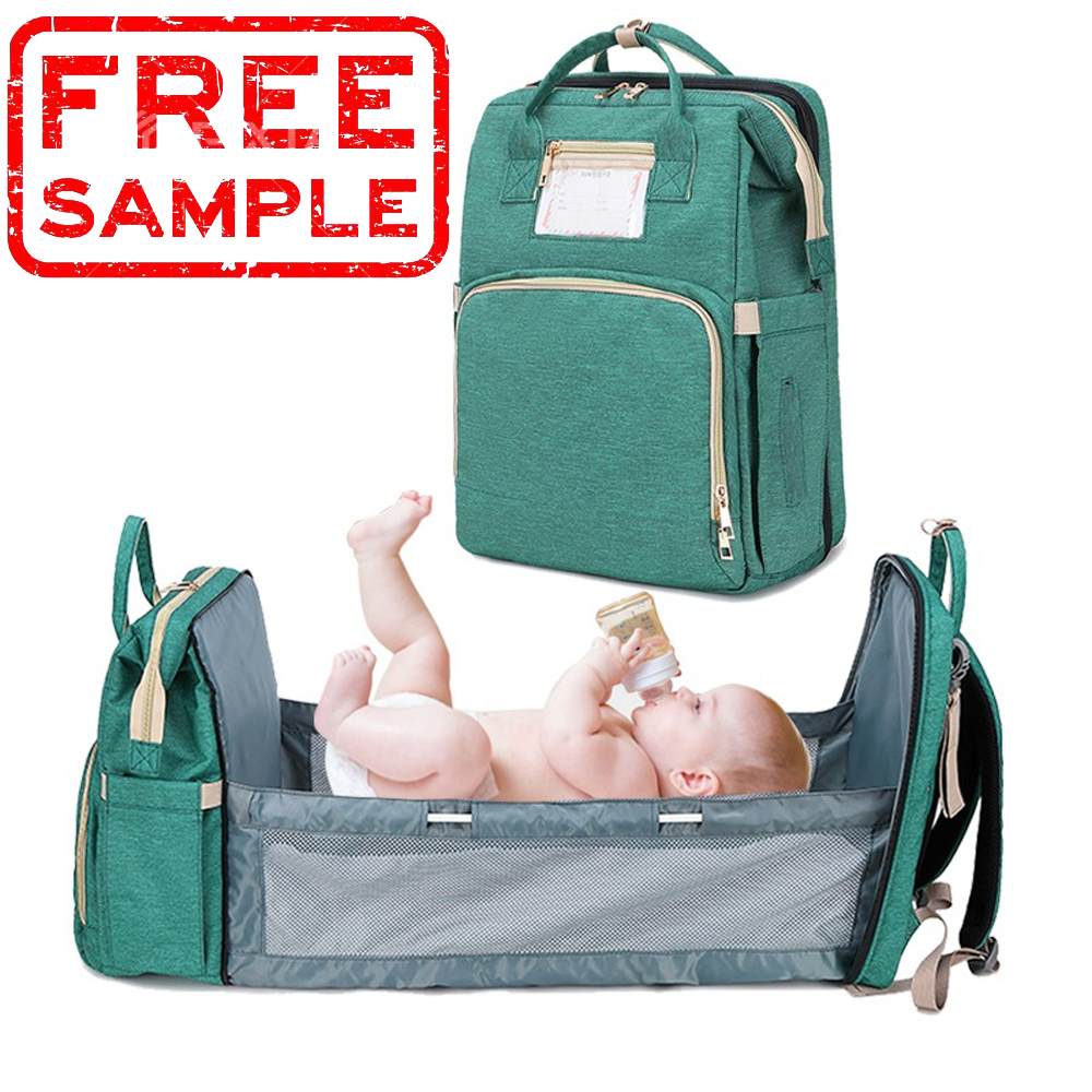 FREE SAMPLE large multi function 3 In 1 Foldable changing sleeping mom nappy baby bed crib diaper bag backpack baby diaper bag