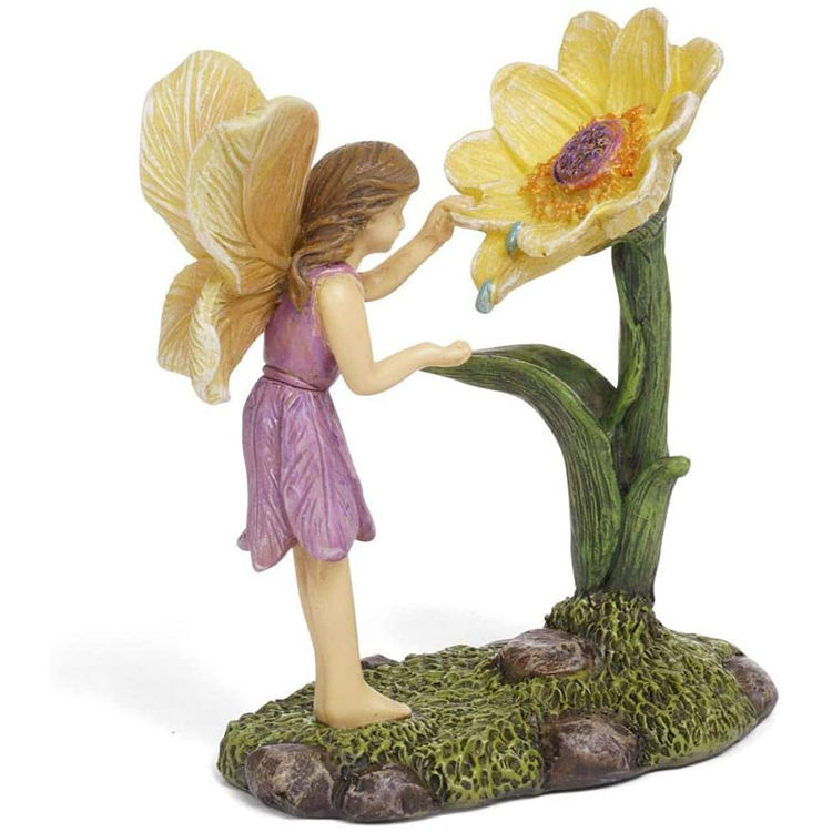 Wholesale custom design small crafts, miniature fairy resin figurines garden/