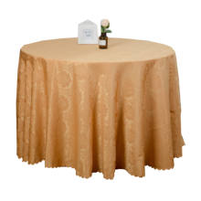 Wedding Reception Restaurant Banquet Party Polyester Cloth Fabric Linen Gold Tablecloth