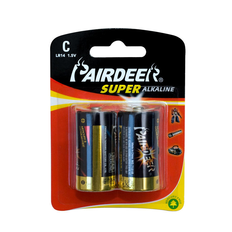 Pairdeer latest style 7500mAh am2 1.5v c size lr14 c r14 alkaline battery