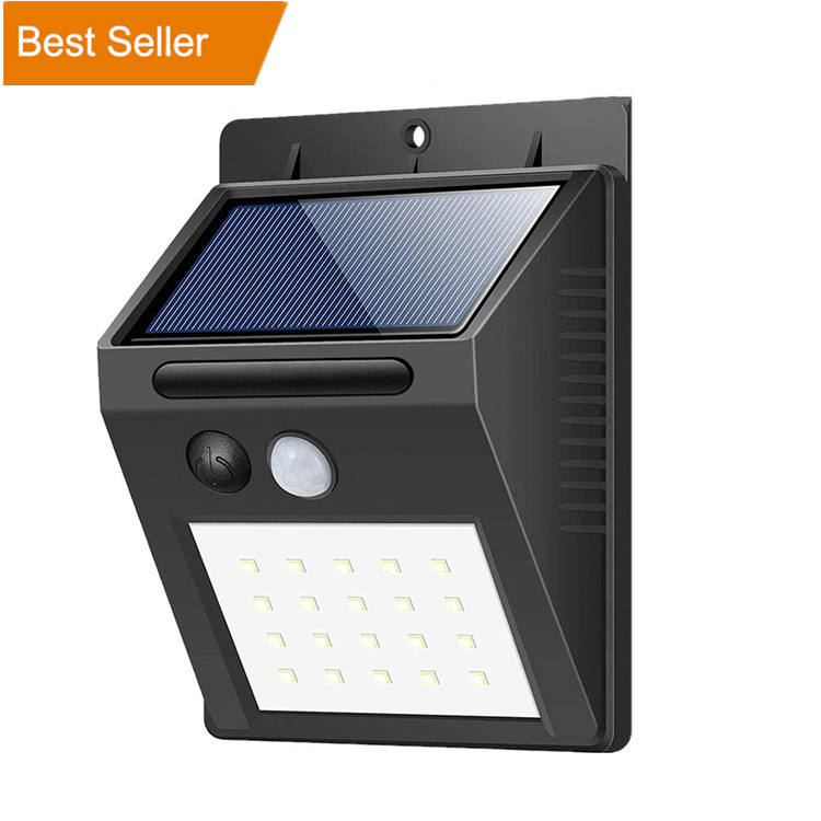 Factory Price Solar Motion Sensor Outdoor Wall Light Led Solar Garden Light