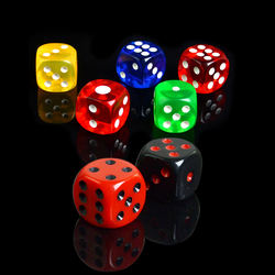 16mm Acrylic Print Professional Bulk Wholesale Transparent Casino Custom Dice for Game