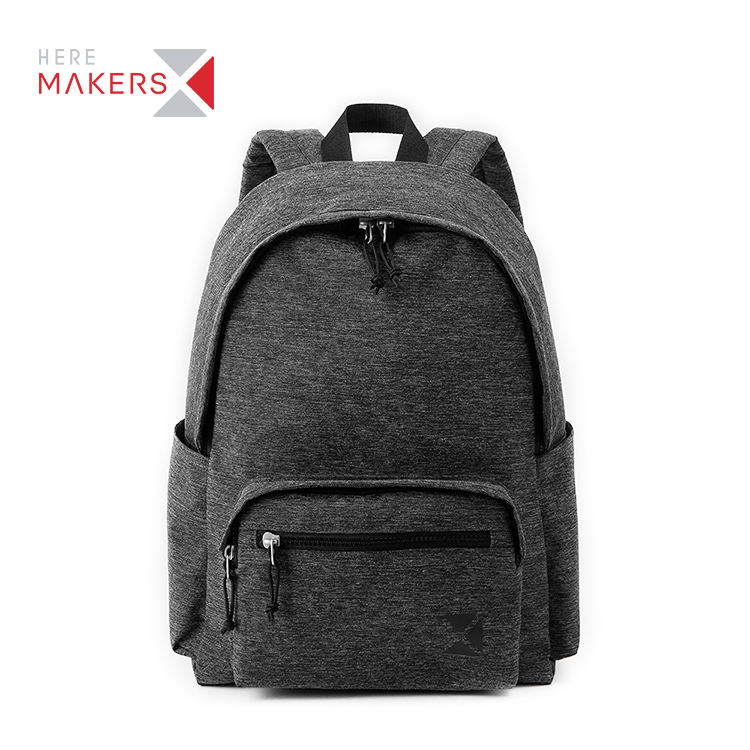 Recycled Black Laptop Rpet Fabric Breathable School Men Eco-Friendly Backpack