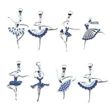 925 sterling silver white dance ballerina pendant love dance girl gift charm