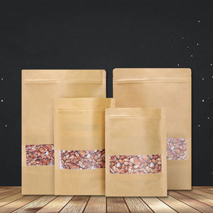 Custom printed resealable stand up pouch ziplock plastic food packaging bag