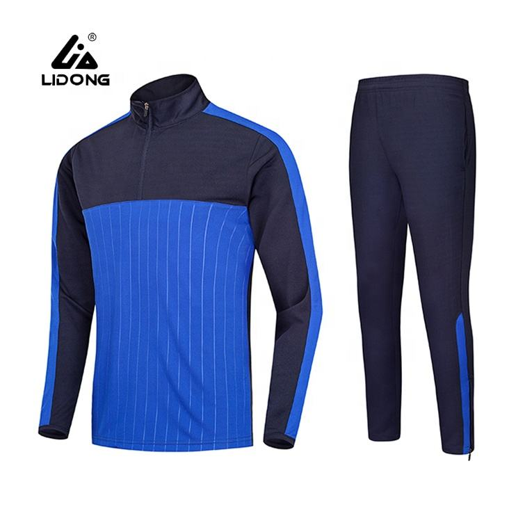 Factory Wholesale Sports Training Clothes Men Plain Soccer Football Tracksuit