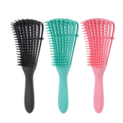 2020 Pravite label wet hair brush Custom special shape eight moving arms head curve vent fast drying detangling hair brush
