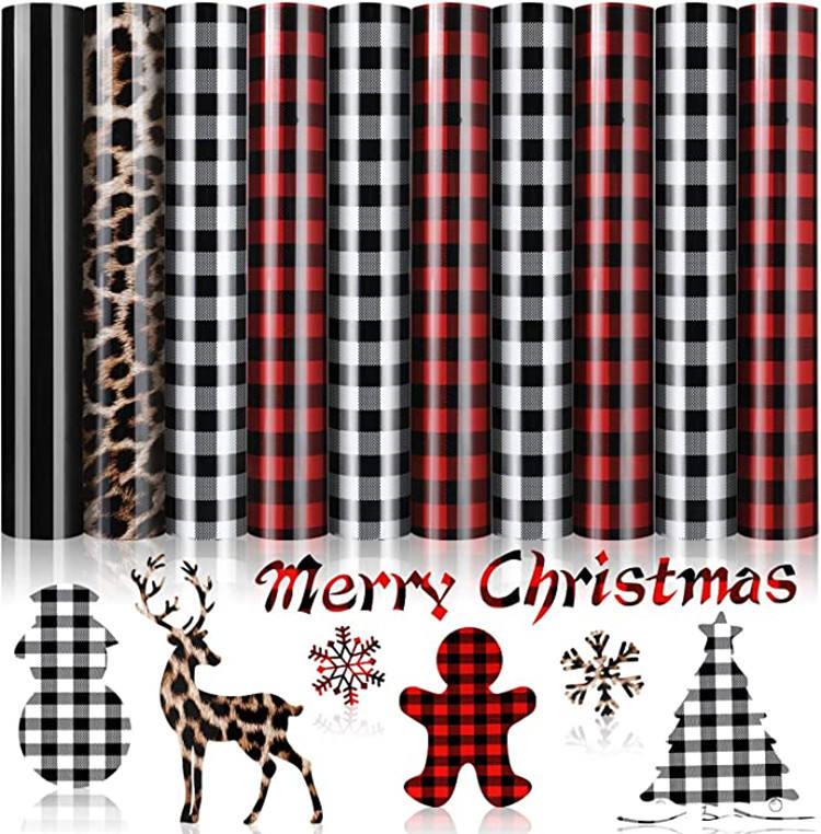 10sheets/set Christmas DIY T-Shirt HTV Iron heat transfer vinyl 12 x 10inch PU vinyl promotion gift for new year Valentine