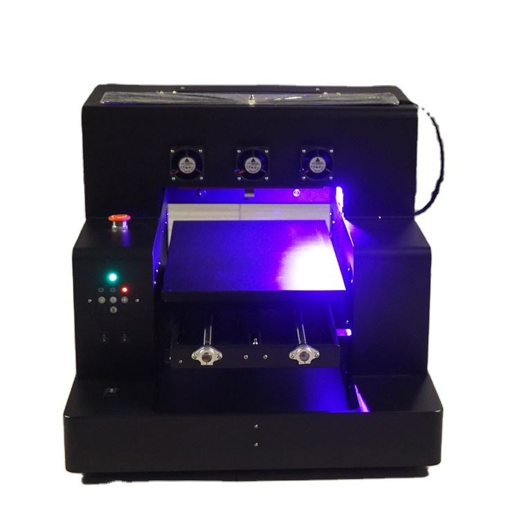 Vernis Effect Volledige Automatische A3UV Fles <span class=keywords><strong>Oppervlak</strong></span> Printer; 6 Kleuren A3 A4 Size Uv Led Flatbed Printer Voor Selling