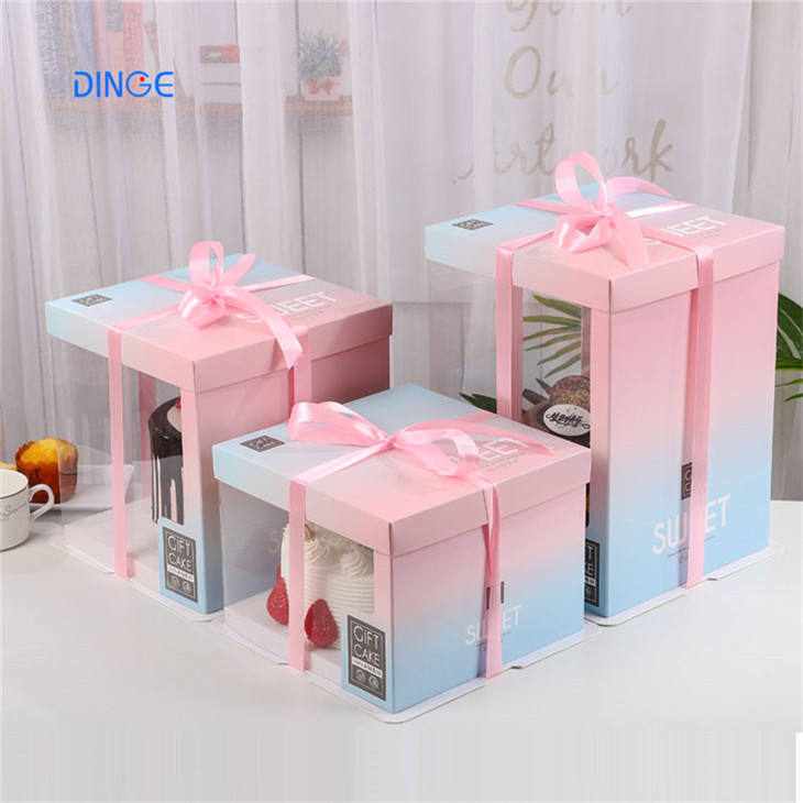 clear plastic bag pull money boxes singapore in cake box