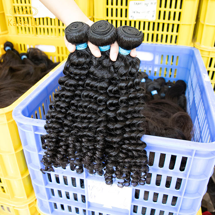 Virgin raw indian deep curly hair in bulk,cheap human hair weave bundles extension,curly 100 virgin indian hair raw unprocessed