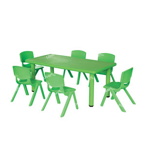 Colorful modern comfortable school student desk and chair