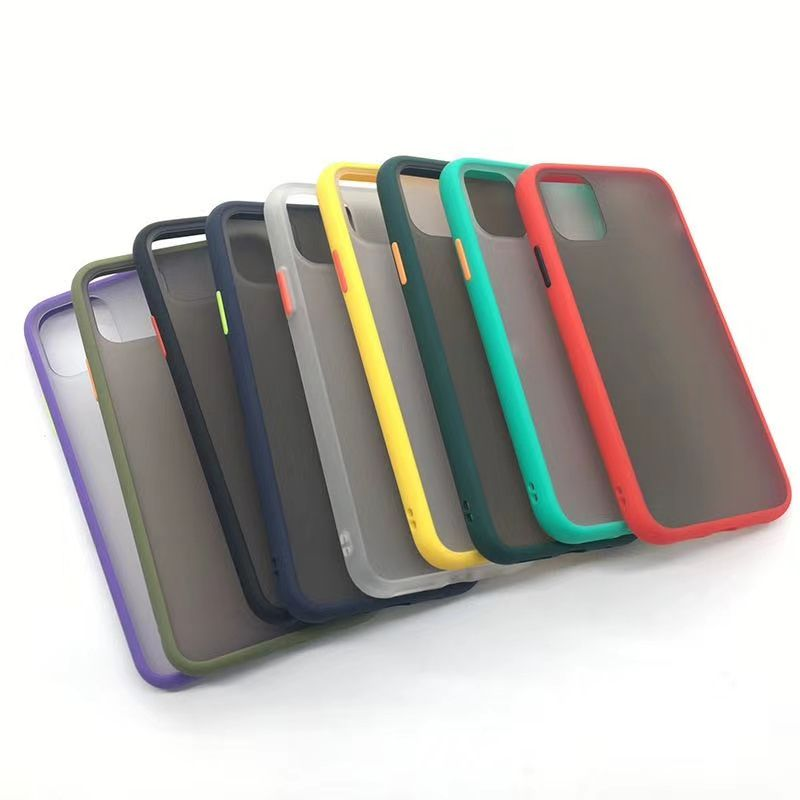 Frosted pc tpu 2 in 1 clear cell phone case for iphone 11