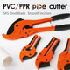 Pipe Tools PVC Pipe Cutter 32mm Aluminum Alloy Body Ratchet Scissors Tube Cutter PVC/PU/PP/PE Hose Cutting Hand Tools