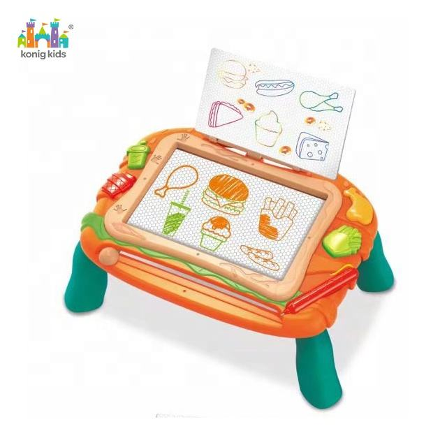 Konig Kids Plastic Toys Musical Early Education Foldable Activity Drawing Board Kids Toys